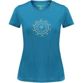 Meru Enköping Wool SS Shirt Women blue saphire